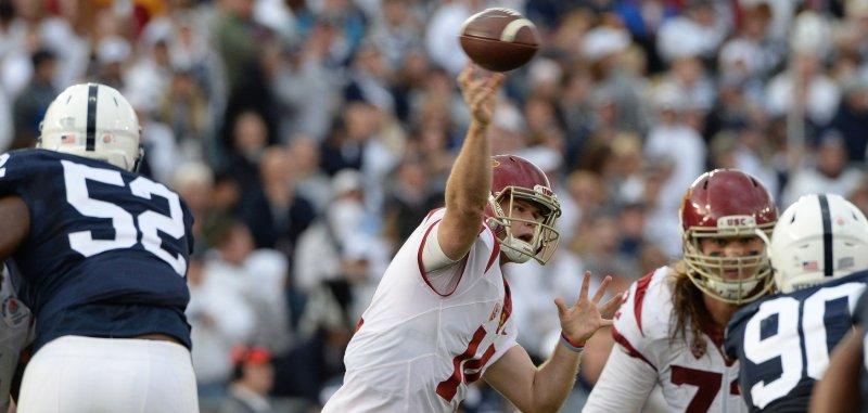 50bb8dc5 NFL Mock Draft: New York Jets' trade lands franchise QB - UPI.com