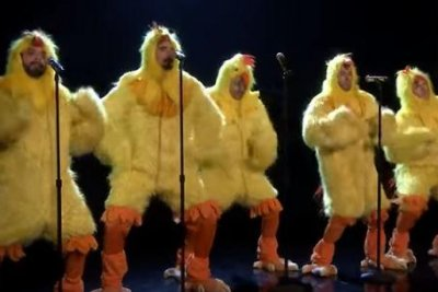 Backstreet Boys drop new album, perform as chickens on 'Tonight Show'