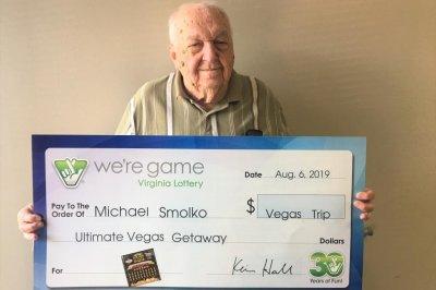 Virginia man wins lottery jackpot nine years after $1 million win