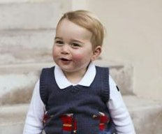 Prince George Christmas portrait released by Kensington Palace
