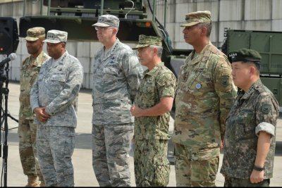 U.S. military leaders in Seoul: Diplomacy backed by military option