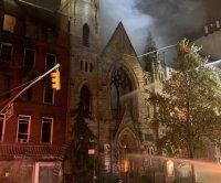 Church fire damages 19th century NYC church