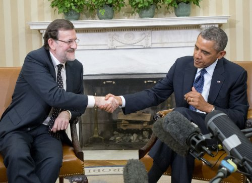 Obama, Rajoy talk economics, security at White House