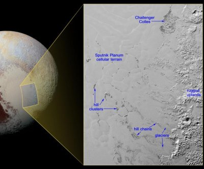 NASA images Pluto's mysterious 'floating hills'