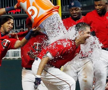 Joe Mauer's first-career walk-off homer lifts Minnesota Twins past Boston Red Sox