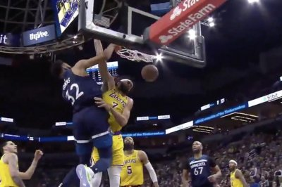 Karl-Anthony Towns posterizes JaVale McGee with thunderous slam