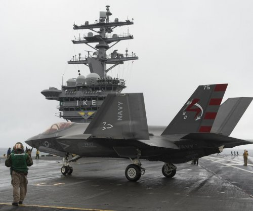 U.S. Navy tests F-35C onboard USS Eisenhower