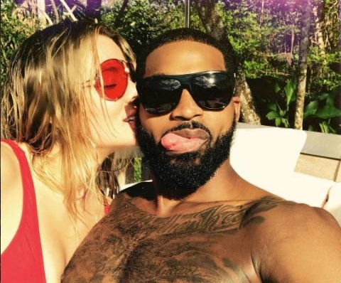 Khloe Kardashian kisses Tristan Thompson in new photo: 'All my love'
