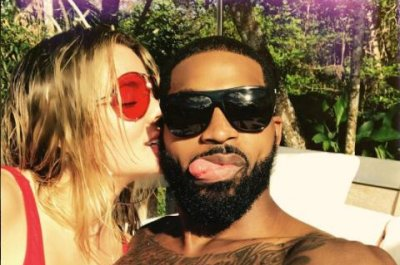 Khloe Kardashian kisses Tristan Thompson in new photo: 'All my love'