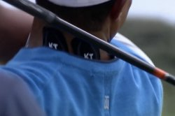 British Open: Tiger Woods wearing tape after waking with stiff neck