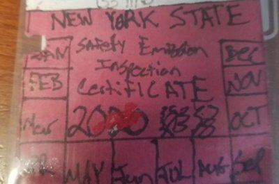 Hand-drawn vehicle inspection sticker doesn't fool police