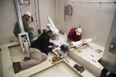 Building, testing of 5th Ford weapons elevator finished, Navy says