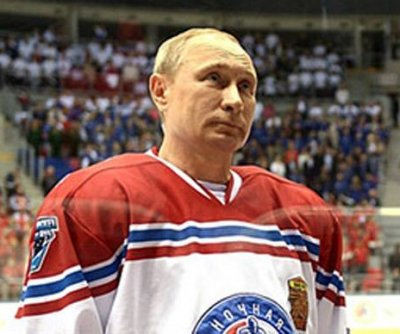 Putin plays exhibition hockey game with students in Sochi