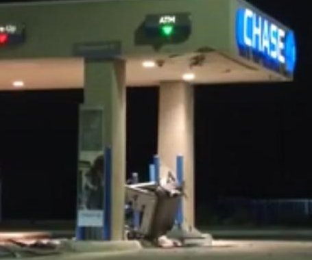 Stolen forklift used to uproot ATM outside San Antonio bank