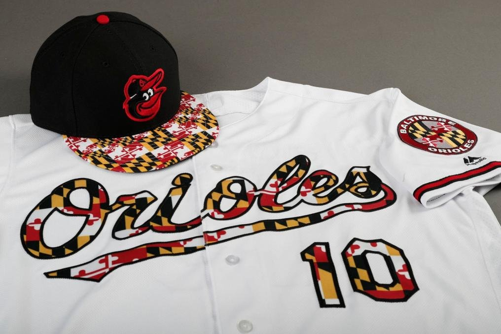 newest collection b8296 d24d2 Look: Baltimore Orioles wearing slick jerseys, caps on ...
