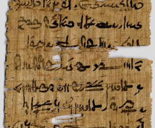 Ancient Egyptian scribes mixed copper in their ink