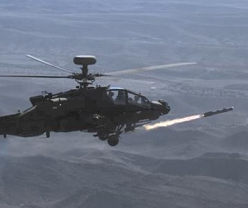 MBDA fires Brimstone missile from Apache helicopter