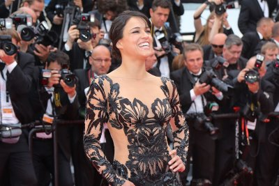 Michelle Rodriguez stuns in black gown at Cannes