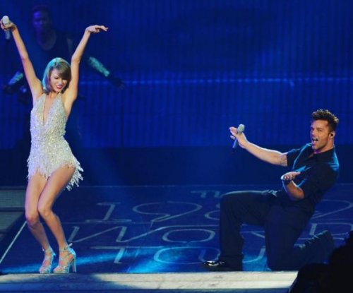 Calvin Harris spotted attending Taylor Swift's celebrity-infused Miami concert
