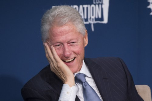 Bill Clinton hints he expects to be grandfather by first of October