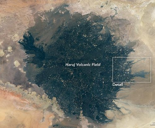 Libya's Haruj volcanic field spotted from space