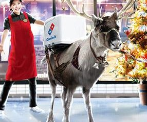 Domino's testing out pizza delivery by reindeer in Japan