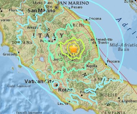 Moderate 5.5 magnitude quake felt in central Italy