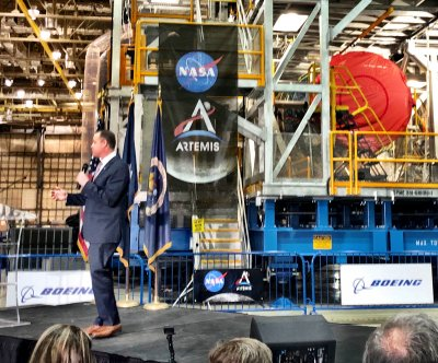 NASA unveils core stage of new $2 billion Artemis moon rocket