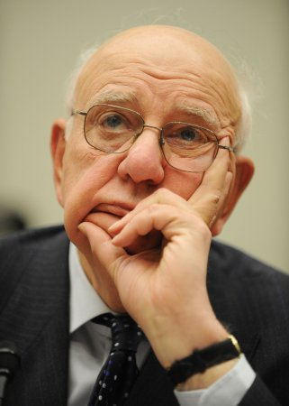Volcker suggests deficit-cutting taxes