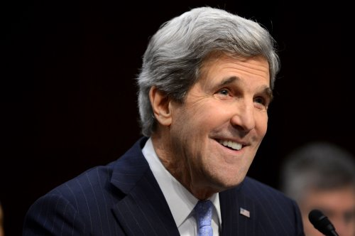 EU's Ashton welcomes Kerry at State