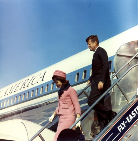 Jackie Kennedy's pink suit locked away