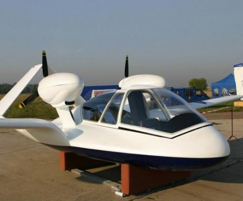 Russian-made unmanned/manned drone set for display