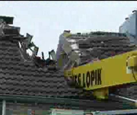 Proposal gone wrong: Crane fell into home