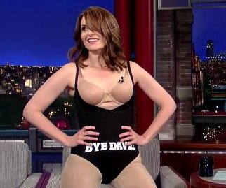 Tina Fey strips down for last appearance on David Letterman
