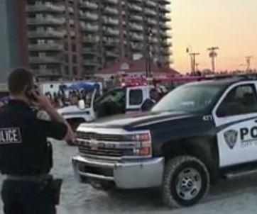 Police truck hits couple on beach near New York City
