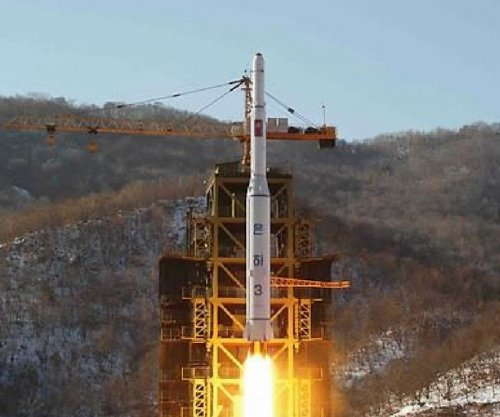 North Korea freight train en route to launch pad