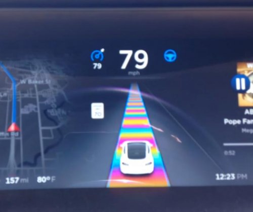 Tesla Autopilot includes 'Super Mario Kart' Easter egg