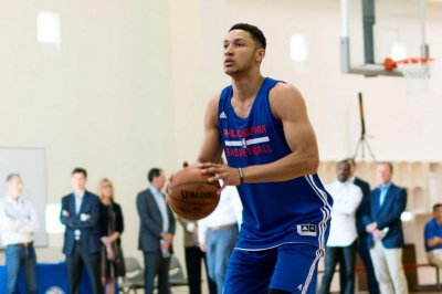 Ben Simmons works out for Philadelphia 76ers