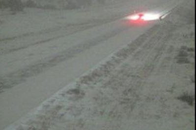 Old Man Winter paying a visit along Interstate 25 in western U.S.
