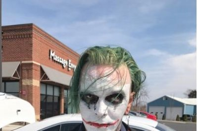 Virginia police arrest man dressed as The Joker, carrying sword