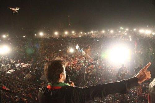 Imran Khan claims record-breaking rally in Pakistan