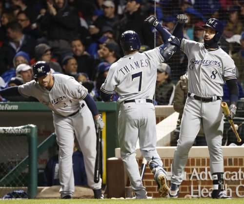Eric Thames' latest home run highlights Milwaukee Brewers' rout of Cincinnati Reds