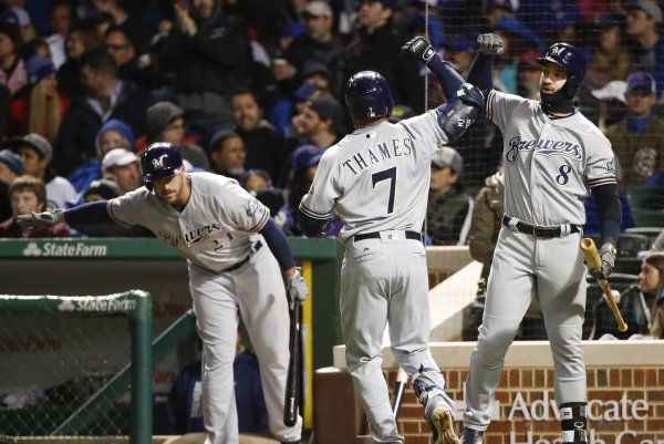 Watch: Eric Thames' latest home run highlights Milwaukee ...