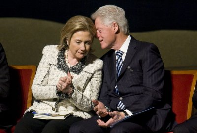 Bill Clinton stumps for wife's supporters