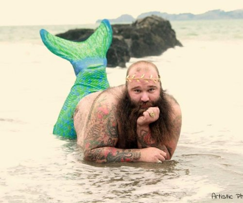 California man poses for racy 'Dudeoir' photos to benefit charity