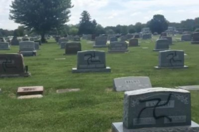 Swastikas spray-painted on 200 headstones in Illinois