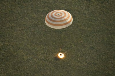 Expedition 43 crew says bye to ISS, lands safely in Kazakhstan
