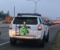 Festive SUV pulled over for excessive Christmas lights