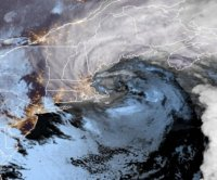 New England's first nor'easter dumps rain and snow