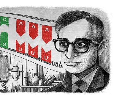 Google honors scientist Har Gobind Khorana with new Doodle